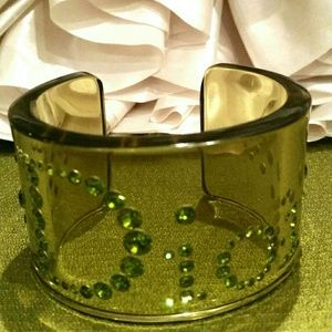 Christian Dior Clear Plastic Cuff Bracelet